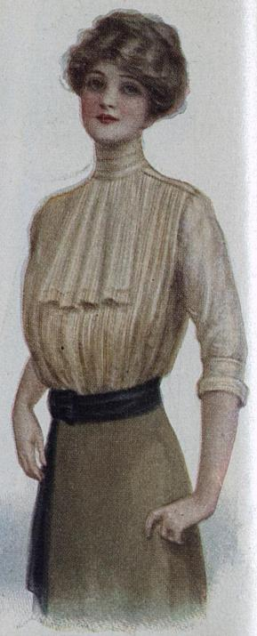 pleated blouse with jabot