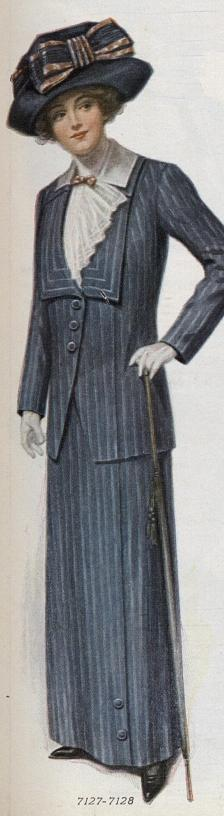 striped serge suit