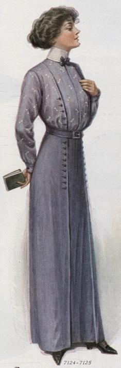 shirtwaist and matching skirt
