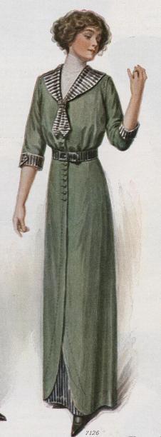 Green sailor dress