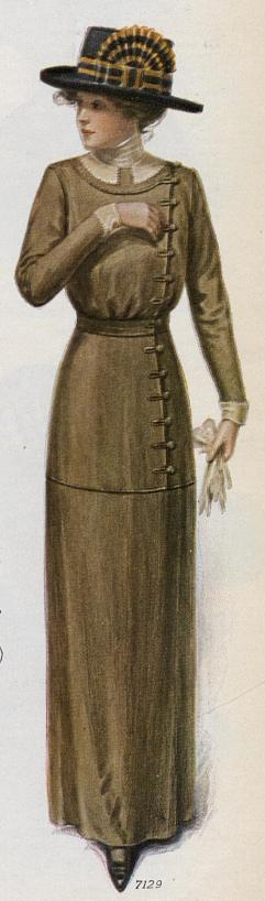side-closing dress with buttonloops