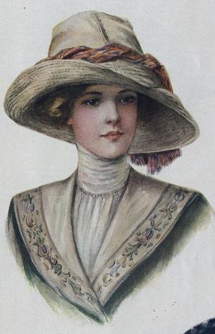 1912 woman's hat
