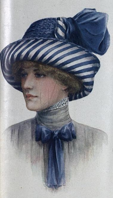 1912 hat with striped brim