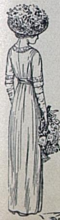 back of hundred year old maid of honor dress