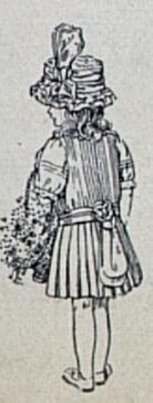 back view of 1912 flower girl dress