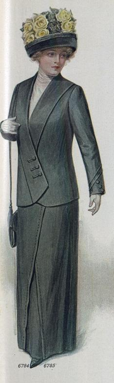 1912 woman's suit with hat
