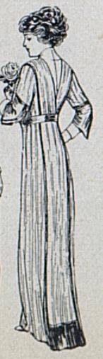 back view of a 1912 robe