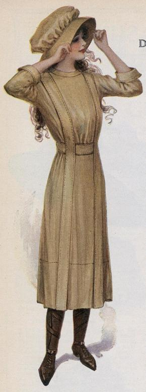 1912 dress for outdoor activities