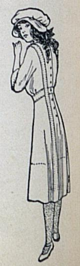 back view of 1912 dress