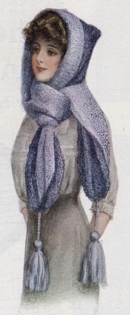 cap with attached scarf