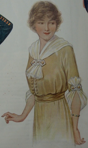 1913 silk blouse