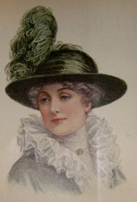 1912 hat with ostrich plume
