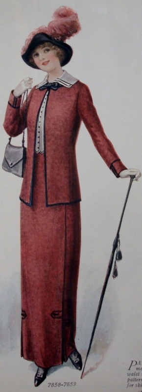 1912 woman's suit and hat