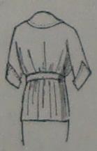 back view of kimono-style blouse