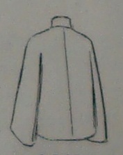 1912 Quilted Silk Jacket-back view