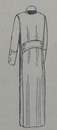 woman's overcoat-back view