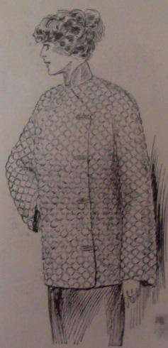 1912 Quited Silk Jacket