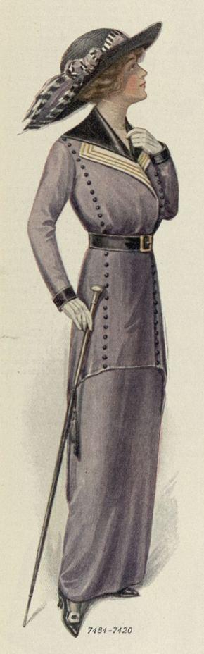 1913 walking suit