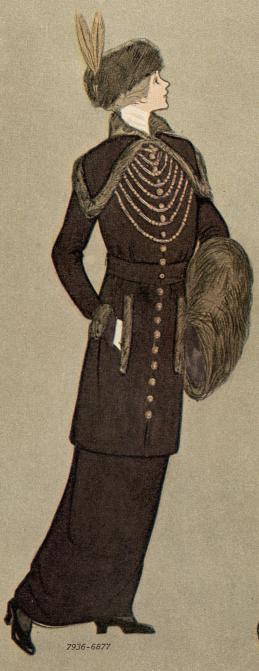 1913 women's winter suit