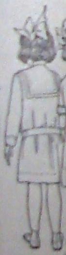 back of girl's dress