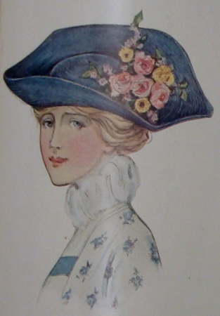Blue Watteau Hat
