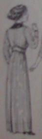 1913 dress back view