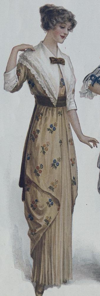 1914 brown dress