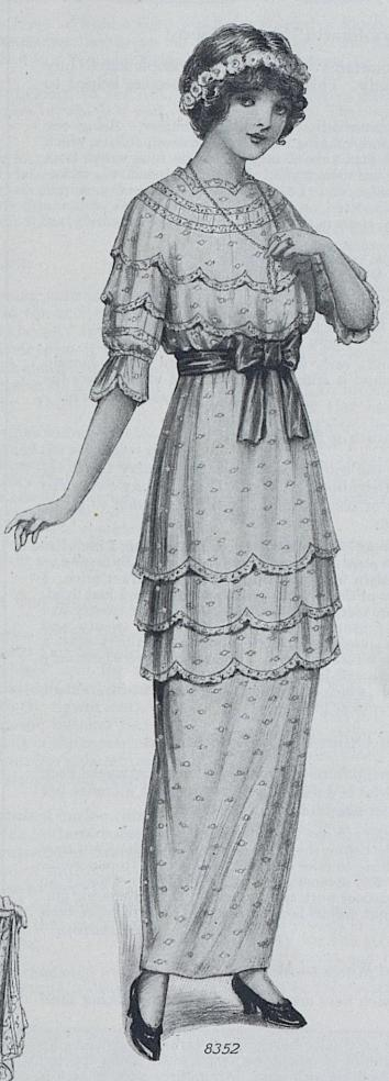 1914 Summer Party Dress