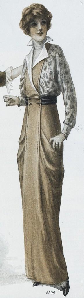 Khaki and print dress